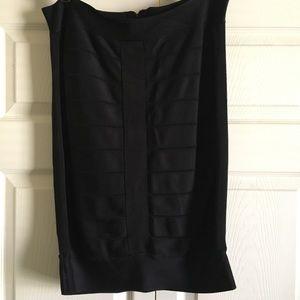 Black Bandage Midi Skirt